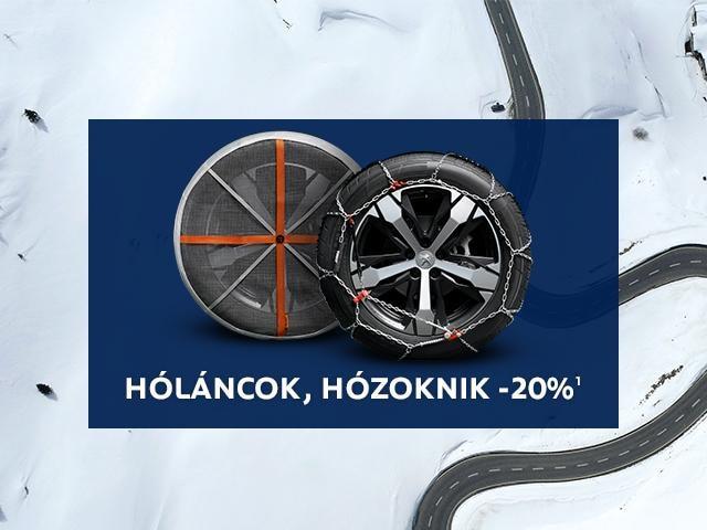 Peugeot téli tartozék akció - hólánc