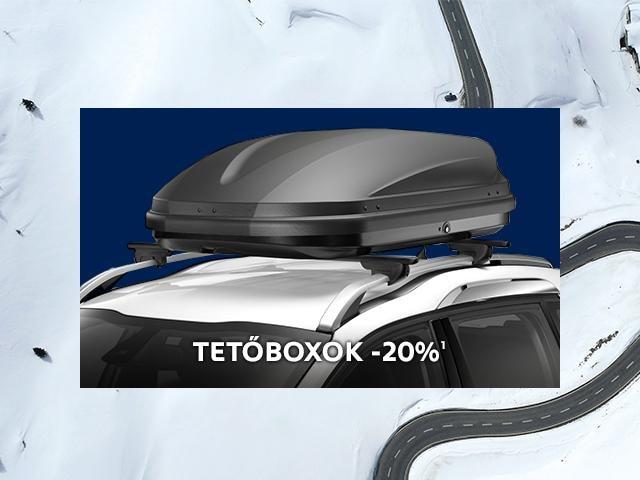 Peugeot téli tartozék akció - tetőbox