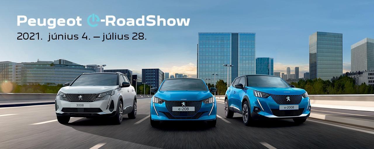 Peugeot elektromos roadshow