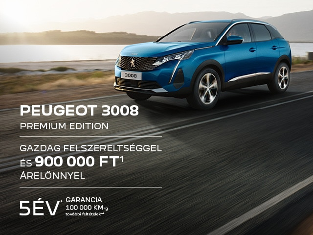 Peugeot 3008 Premium Edition akció