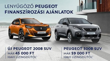 PEUGEOT 2008-3008 Finanszírozás