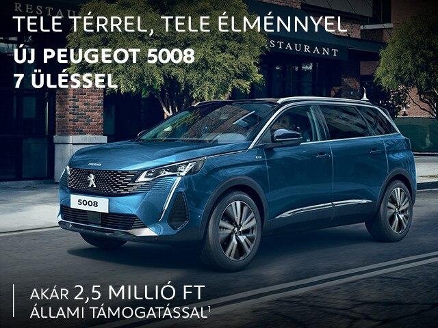 Új PEUGEOT 5008 SUV