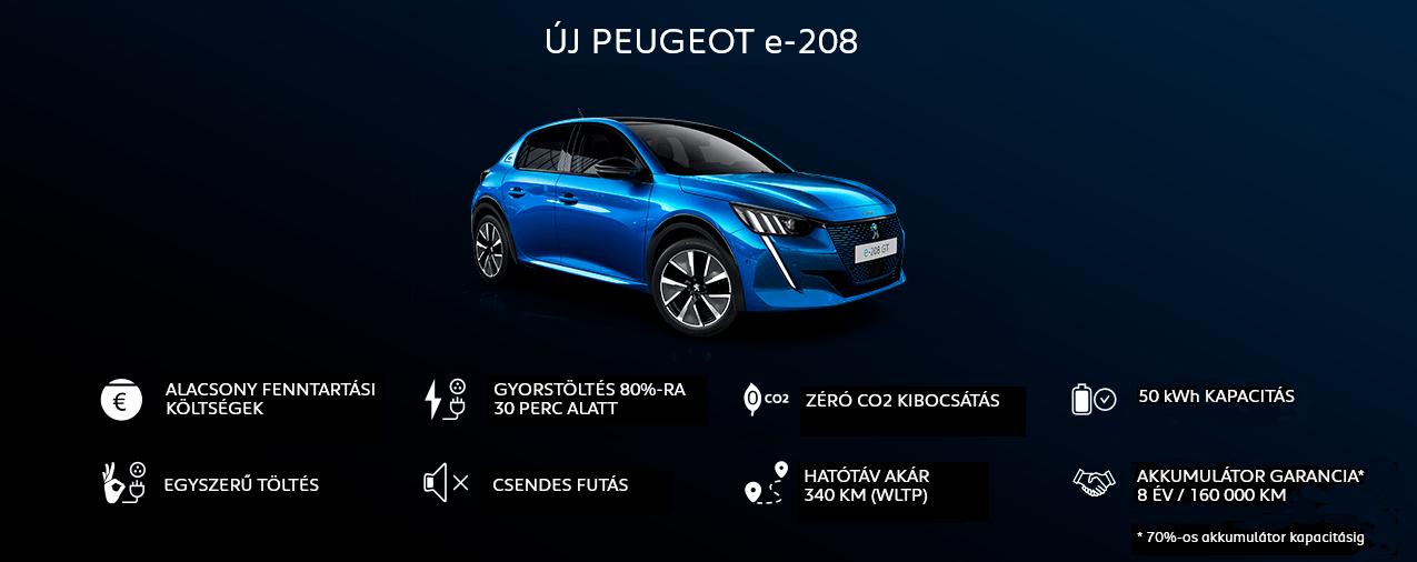 Új Peugeot e-208
