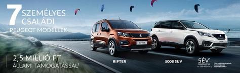 Peugeot 7 személyes családi modellek