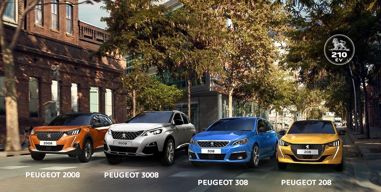 Peugeot 210 éves ajánlatok