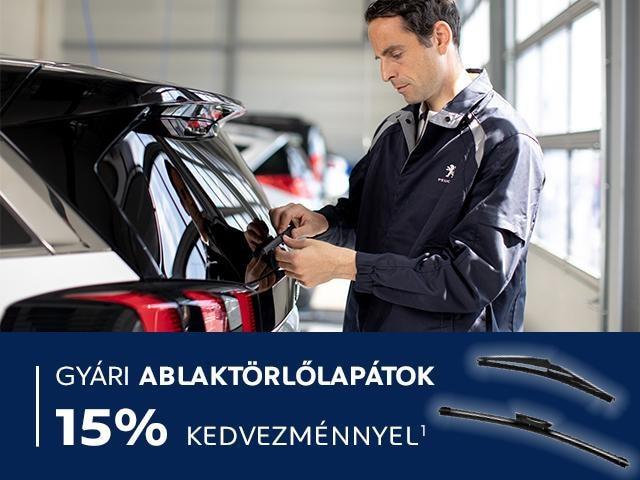 Peugeot - Ablaktörlő akció