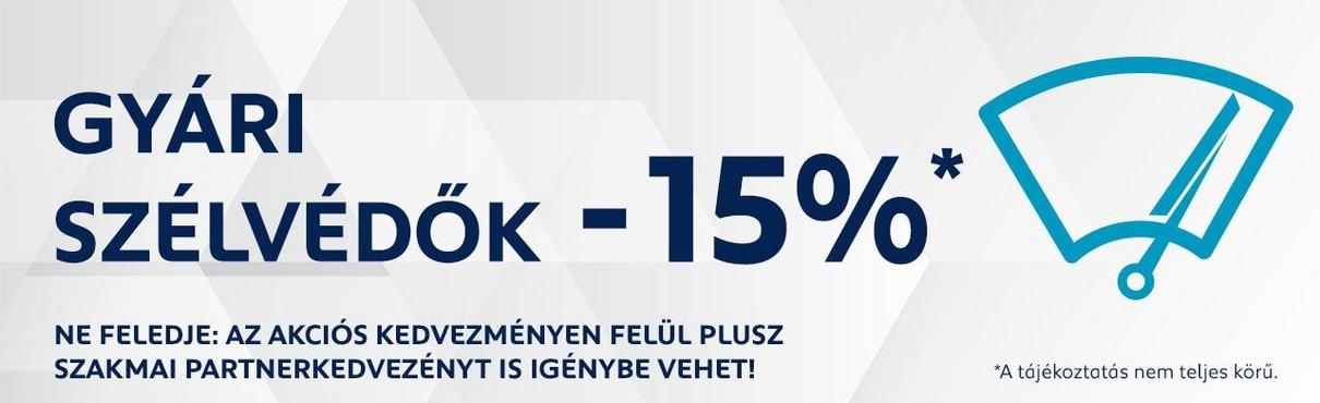 Peugeot Szélvédő akció