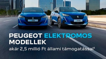 Peugeot elektromos modellek