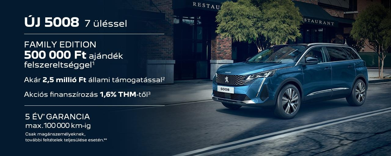 Peugeot 5008 SUV Family Edition