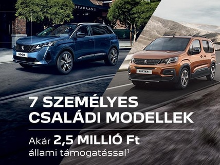 Peugeot 7 személyes modellek